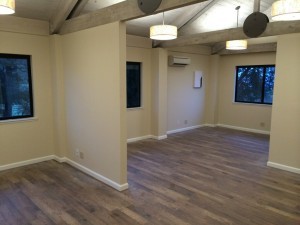 finished sheetrock in room for fogarty winery