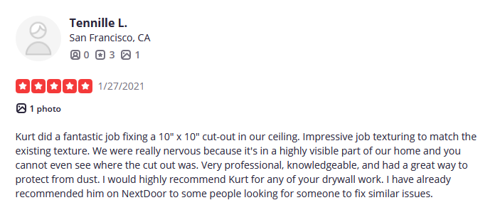 oma drywall positive review tenielle