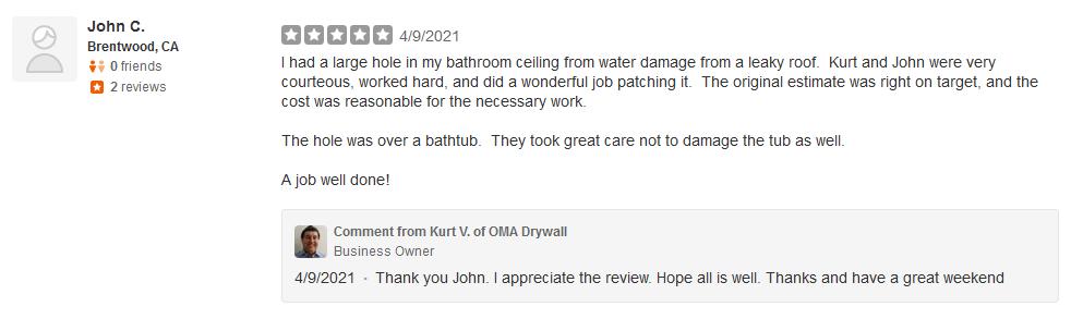 bathroom ceiling leak repair